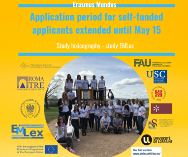 "Towards entry ""Deadline for self-funded applicants extended until May 15"""