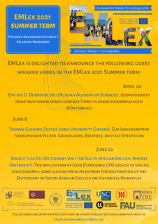 "Towards entry ""Public lectuers at the EMLex 2021 Summer term"""